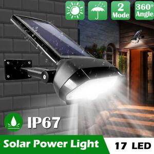 Adjust Solar Power Outdoor Light PIR Motion Sensor Spotlights Security Wall Lamp