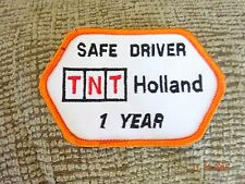 TNT Holland 1 Year Safe Driver  Vintage Trucking  Patch