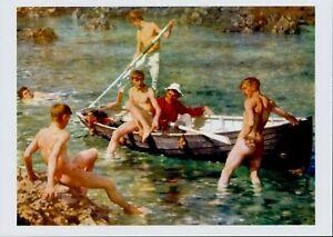 HENRY SCOTT TUKE Gay Artist Nude Naked Male Men RUBY GOLD AND MALACHITE Print