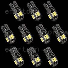 10 x ERROR FREE T10 CANBUS W5W 194 168 5730 SMD 8 LED WHITE LIGHT BULB LAMP