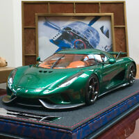 FrontiArt Avan Style 1:18 Koenigsegg Regera Resin Car Model Carbon Green Limited