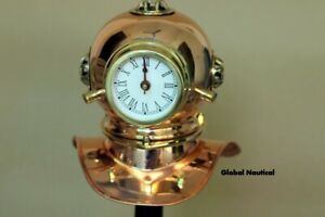 Vintage Antique Divers Metal clock with copper Brass Finish Diving clock