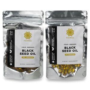 180x Original Black Seed Oil Capsules 100% Virgin Cold Pressed Nigella Sativa