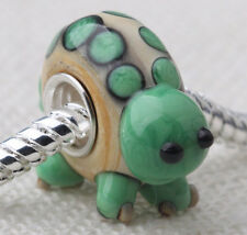 1pcs SILVER MURANO GLASS BEAD LAMPWORK Animal European Charm Bracele DW065