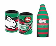 SET OF 2 SOUTH SYDNEY RABBITOHS NRL LONG NECK TALLIE BEER COOLER + STUBBY HOLDER