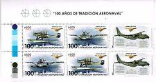 Chile 2016 #2572-2573 100 años de Tradicion Aero Naval - Planes with Border MNH