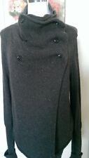 ALLSAINTS CO Unique Wool Blend Brown Knit Sweater Size 8