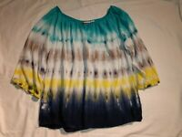 Cato Woman Tie Dye Multicolored Top Size S Long Sleeve