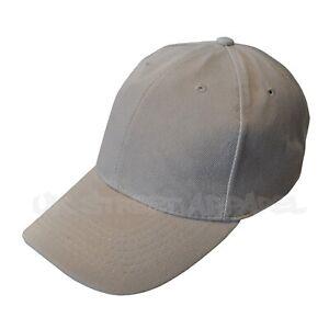 Grey Adjustable Baseball Cap