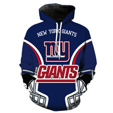 New York Giants printed Pullover Pocket Sport Unsex Casual Hoodies S-3XL