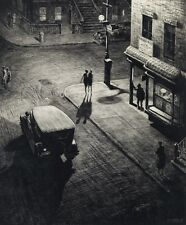 Relics  :  Martin Lewis  :  circa 1928 NYC : Drypoint etching Fine Art Giclee