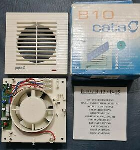 Cata C B10 WHITE VENT EXTRACTOR FAN 100mm with HUMIDITY SENSOR