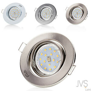Einbaustrahler Einbauleuchte LED DECORO 230V 4W LED GU10 Spots Deckenspots 1-10x