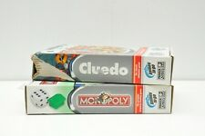 Travel Board Games Pair - Cluedo and Monopoly boxed and complete