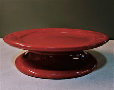 Longaberger pottery candle stand, color paprika (red), Woven Traditions