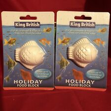 2x Vacation Holiday Fish Food Blocks For Upto 15 Tropical Coldwater Fish 14 Days