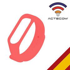 ACTECOM Correa Roja para Xiaomi mi Band 4 Mi Band 3 Recambio de Silicona imperme