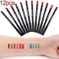 Lot de 12PCS couleurs professionnelles Lipliner étanche Liner crayon cosmétic HA