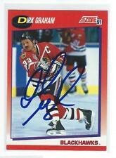 Dirk Graham Signed 1991/92 Score Canadian Card #15