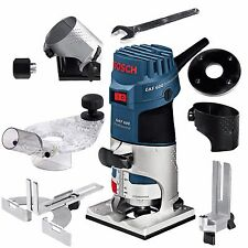 """Bosch GKF600 1/4"""" Palm Router Laminate Edge Trimmer GKF 600 + Accessories 110V"""