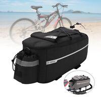 Insulated Trunk Cooler Bag Bicycle Rear Rack Bags Reflective Bike Pannier Bag UK
