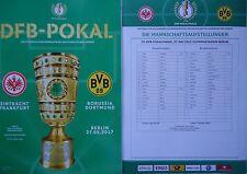 Programm Aufstellung Pokal Finale 2017 Eintracht Frankfurt - Borussia Dortmund