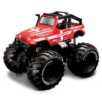Maisto 21144 Pull Back Earth Shockers Diecast Metal Monster Truck Toy - Rescue