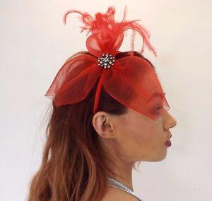 Fascinator New Luxury Ladies Diamante Twist Petal Royal Wedding Headband