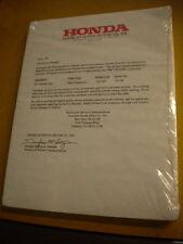 Honda 1998 VTR1000F Super Hawk Service Manual with Dealer Order Form