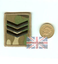 Crye Multicam MTP Sergeant Sgt Hook (sticky) Backed UBACS Rank Patch