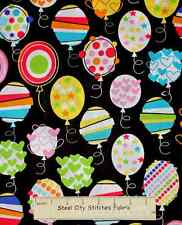Balloon Fabric - Birthday Party Kids Toss C9673 Timeless Treasures - 23 Inches