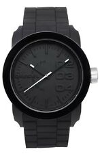 Men's Sport 44mm Watch Nwt $100 Diesel Double Down Black Dial Silicone