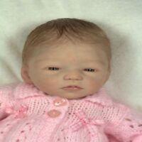 13 Inch Reborn Dolls Kit Limbs & Head Vinyl Silicone Handmade Sleeping Baby Doll