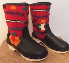 NWT Anthropologie Vintage Carpet Free People Booties Boots Size 38