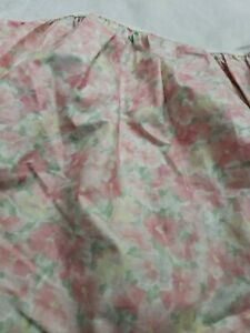 Vtg 90s  EILEEN WEST Designed for Utica Floral Full Bed Skirt cottage core *tear