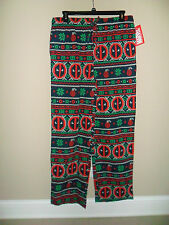 Marvel Deadpool Fairisle Knit Sleep Pant 100% cotton Side pockets Navy blue M