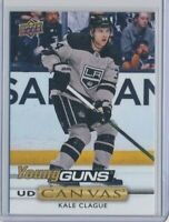 2019-20 Upper Deck Series 2 Canvas Young Guns C212 Kale Clague LA Kings