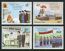 Laos 990-993, MI 1240-1243, MNH.Republic, 15th ann. Monument,Parade,Banners,1990