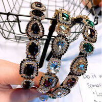 Women Crystal Embellished Headband Hairband Wedding Hair Band Accessories Crown