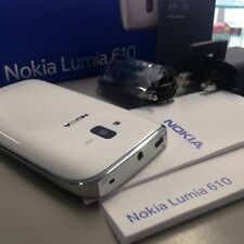 BRAND NEW GENUINE NOKIA LUMIA 610 RM-835 WHITE 3G UNLOCKED SIMFREE ORIGINAL BOX
