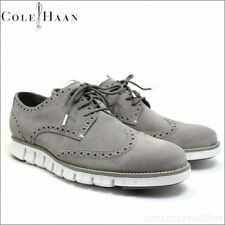 Cole Haan Zerogrand Wingtip Oxford Leather Shoes Size 8 Grey White Suede Nubuck