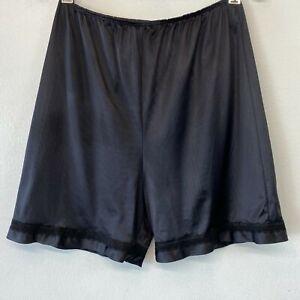 Vintage Sears Tap Pants size L Black Nylon Bloomers Briefs Shorts Panties USA GD