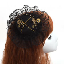 Steampunk Gear Wing Lace Hat Hair Clip Gothic Hairpin Headwear Vintage Victorian