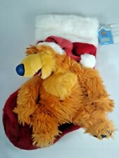 "Holiday Stocking Bear Big Blue House Musical Disney 18"" Christmas 2000"