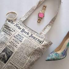 New kate spade new york Canvas Shopper shopping Tote Newspaper handbag boho hobo