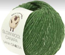 Slow Wool Canapa 50g Lana Grossa Écologique Fil Fb.8 = Vert