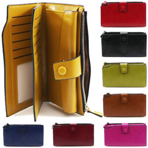 Ladies Designer Phone Pouch Zip Long Coin Purse Womens Wallet Card Holder New UK