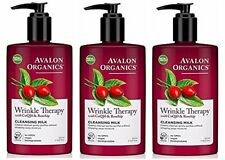 Avalon Organics Wrinkle Therapy CoQ10 Cleansing Milk 8.50 oz (Pack of 3)
