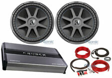 "Kicker 44CVX152 Comp VX CVX 15"" 2000 Watt Car Subwoofer+Mono Amplifier+Amp Kit"