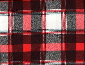 Flannel Queen Sheet Set Red & Black Plaid 4pc Novelty Striped Cottage Gingham